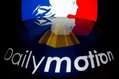 The logo of French video-sharing website Dailymotion, set against France's national flag