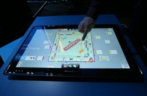 The new Lenovo IdeaCentre Horizon Table PC is showcased on January 7, 2013 in Las Vegas, Nevada