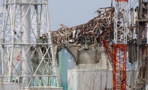 The No. 3 reactor building at Fukushima power plant on  May 26, 2012