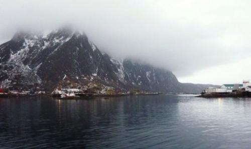 The Norwegian Sea off Norway's Arctic archipelago Lofoten on February 8, 2012