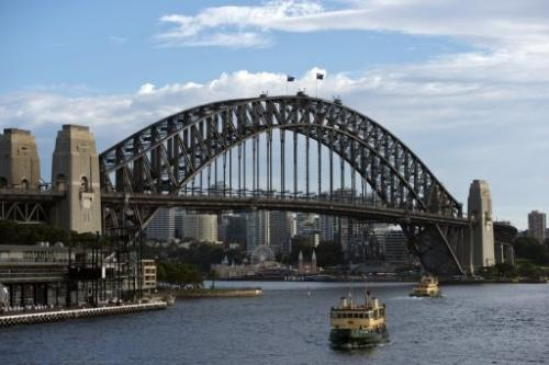 The Sydney harbour is pictured on March 22, 2013