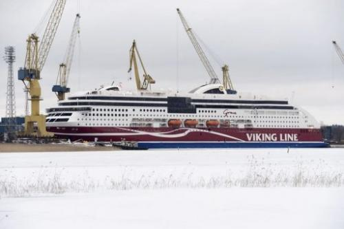 The Viking Grace, the world's first large passenger ferry powered by liquefied natural gas, on January 10, 2013 in Turku