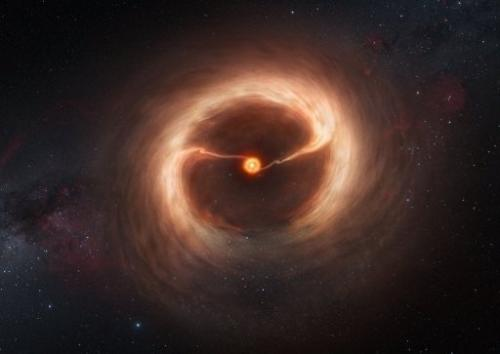 This handout photo released on December 27, 2012 by ESO shows an artist's impression of a disc of gas and cosmic dust