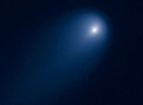 This NASA Hubble Space Telescope image, captured on April 10, 2013 shows Comet C/2012 S1 (ISON) at a distance of 386 million mil