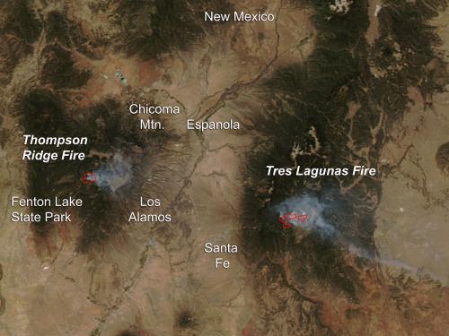 Thompson Ridge Fire, New Mexico