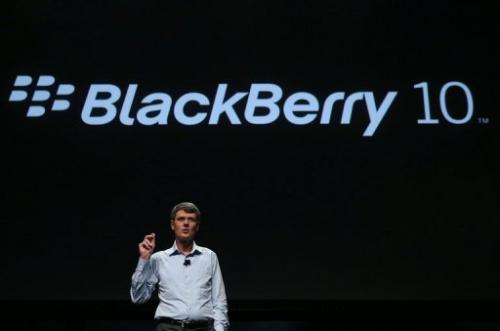 Thorsten Heins, Research in Motion CEO, is pictured at the BlackBerry Jam conference in California on September 25, 2012