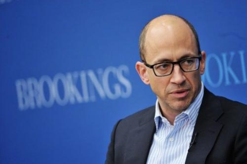 Twitter CEO Dick Costolo speaks during a discussion on social media on June 26, 2013 at the Brookings Institution