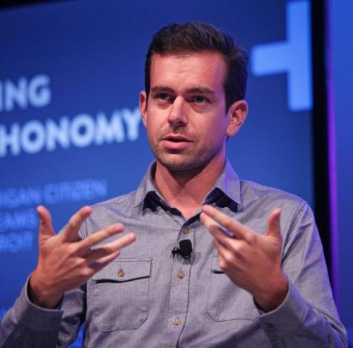 Twitter Chairman and Square CEO Jack Dorsey moderates a panel discussion with Detroit entrepreneurs at Techonomy Detroit at Wayn