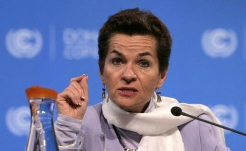 United Nations Convention on Climate Change Executive Secretary Christiana Figueres speaks on November 30, 2012
