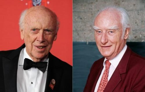 US geneticist James Watson (L) on May 8, 2008 and British biophysicist Francis Harry Compton Crick on April 23, 1993