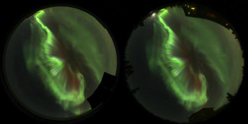 Using digital SLRs to measure the height of Northern Lights
