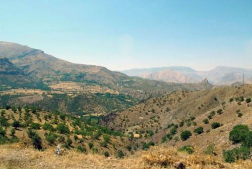 Valleys in the Halgurd-Sakran National Park, 170km northeast of the Iraqi city of Arbil, on September 1, 2013