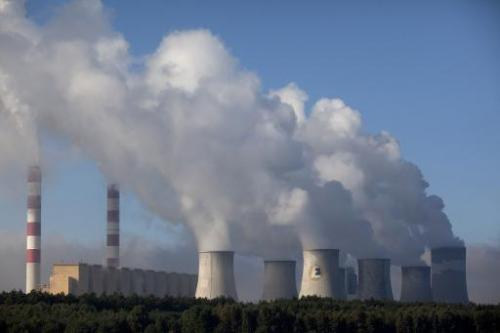 View of the Belchatow coal-fired power plant in central Poland, on September 28, 2011