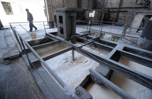 Waste is processed at a privately owned rare-earths factory on April 21, 2011 in Inner Mongolia
