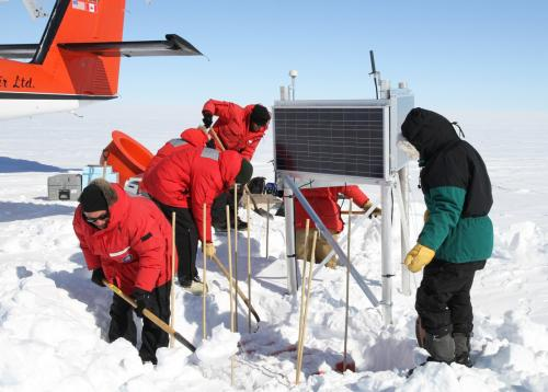 Weighing the Antarctic ice sheet