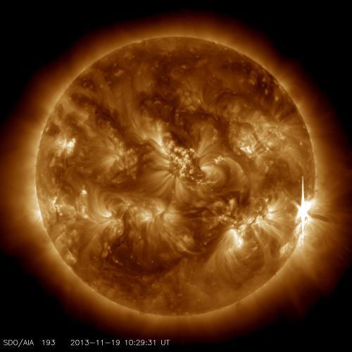 X-Class solar flare: Nov. 19
