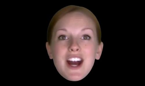 Face of the future rears its head: 'Zoe' uses a basic set of six simulated emotions (w/ video)