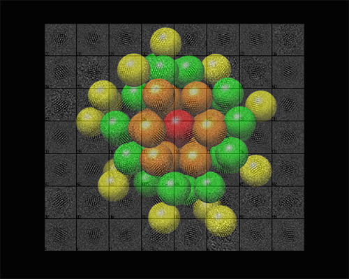 A breakthrough in imaging gold nanoparticles to atomic resolution by electron microscopy
