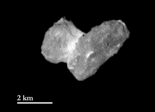 A distinct coma surrounds comet 67P/Churyumov-Gerasimenko as seen from Rosetta