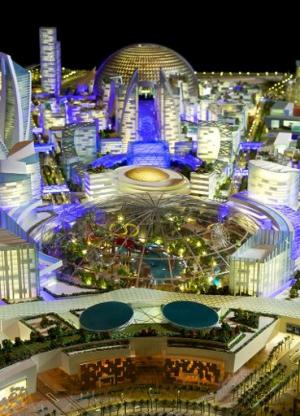 "An artist's impression of the ""Mall of the World"" to be built in Dubai"