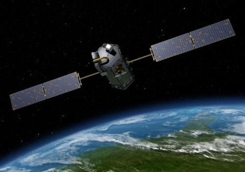 An artists rendition of NASA's Orbiting Carbon Observatory (OCO)-2, which will launch on July 1 and measure atmospheric carbon d