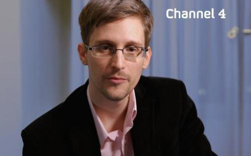 A recent, undated picture received from Channel 4 on December 24, 2013 shows US intelligence leaker Edward Snowden