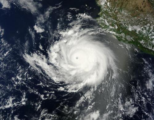 A satellite view: Former Hurricane Cristina now a ghost of its former self