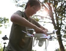 Creative adaptation of a quadcopter