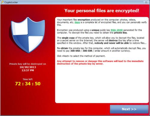 Cryptolocker has you between a back up and a hard place