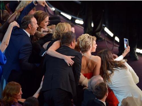 Ellen's Oscar celeb selfie a landmark media moment