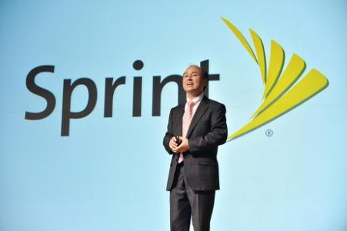 Japan's SoftBank Corp. founder and President Masayoshi Son speaks during a press briefing to announce the company's financial re