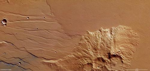 Lava floods the ancient plains of Mars