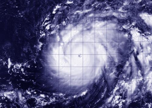 NASA sees Genevieve cross international date line as a Super-Typhoon