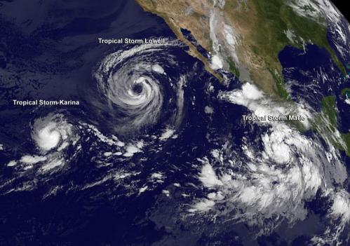 NASA sees massive Tropical Storm Lowell close enough to trouble Baja California