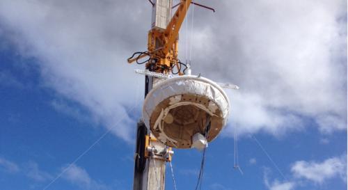 NASA's saucer-shaped craft preps for flight test