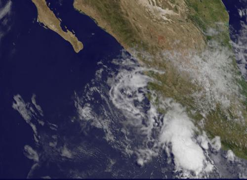 New satellite animation shows the end of Hurricane Amanda
