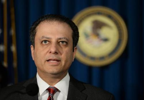Preet Bharara, U.S. Attorney for the Southern District of New York speaks on May 9, 2014 at the US Attorney's office in New York