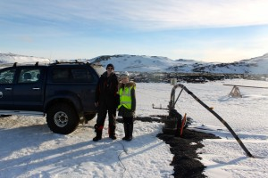 Researcher takes measure of carbon storage in Iceland