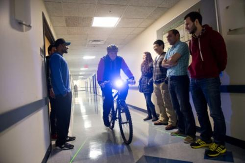 Smart bike pedals toward accident prevention