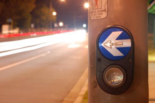 Sublime design of the PB/5 pedestrian button