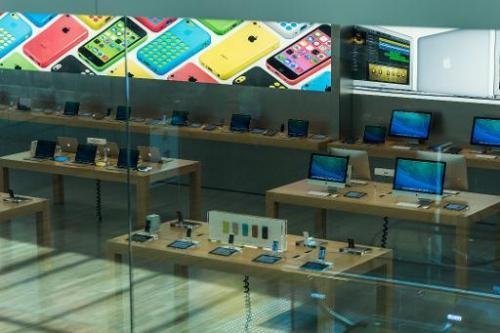 The first Apple Store in Brazil in the  shopping Village Mall in Barra da Tijuca,  Rio de Janeiro, Brazil, on February 13, 2014