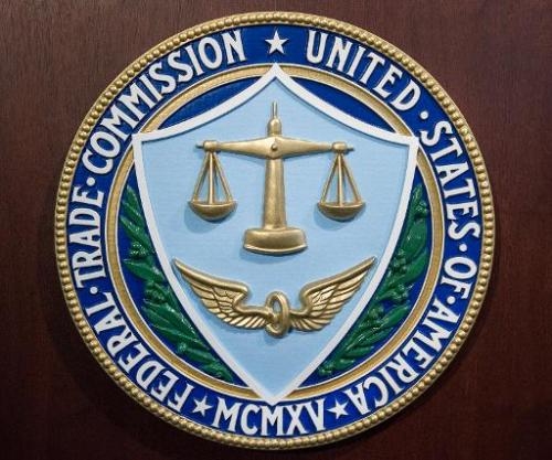 The logo of the Federal Trade Commission (FTC) is seen at the FTC headquarters in Washington, on January 15, 2014