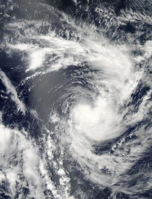 Tropical Cyclone Edilson birth caught by NASA's Aqua satellite