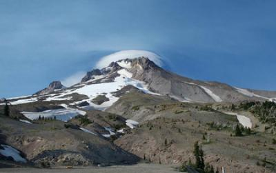 Volcanoes, including Mount Hood in the US, can quickly become active