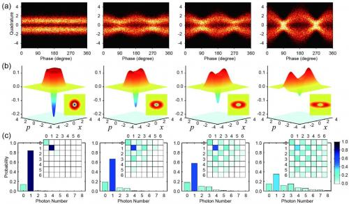 Experimental quantum states for the conversion from particle to wave