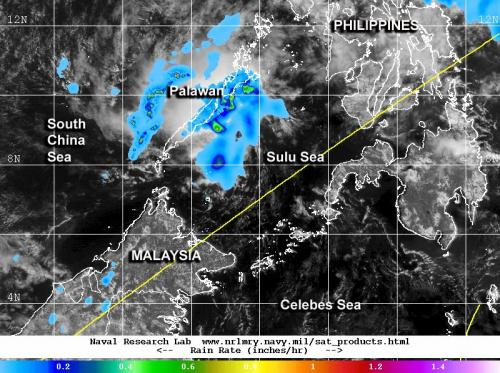 NASA sees Tropical Depression 04W's remnants affecting Palawan