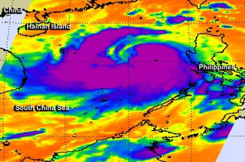 NASA's TRMM satellite adds up Typhoon Rammasun's Philippines deluge