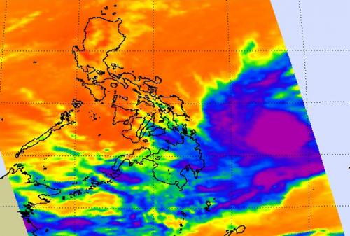 NASA satellite sees Tropical Depression Peipah approaching Philippines