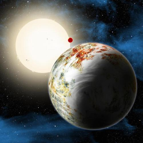 Artist's conception of Kepler-10c