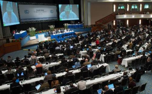 Government representatives of 195 countries attend the UN climate change conference in Bonn, western Germany on June 6, 2014